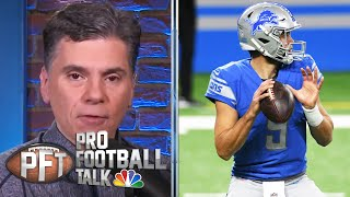Mike florio and charean williams discuss matthew stafford needing to test negative play, if he will be with detroit in 2021 how needs more of a ...