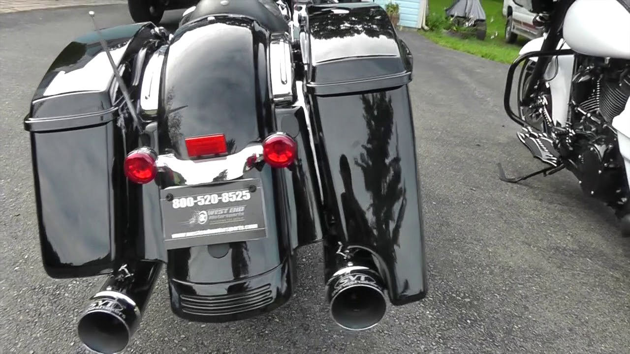 4 5 Extended Saddlebags Matched To Factory Paint Codes For Harley Davidson Touring Bikes