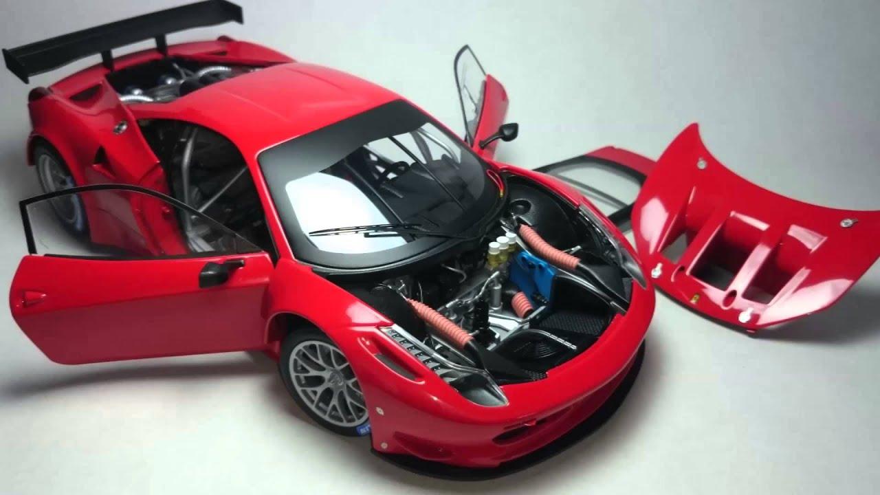 Ferrari 458 Italia Gt2 Hotwheels Elite 1 18 Youtube