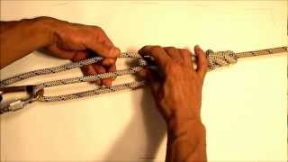 How to tension tẁo points together with rope