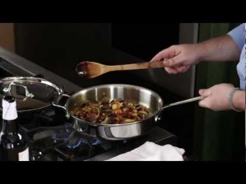 All-Clad® Covered Stainless Steel Sauté Pan