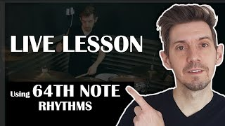LIVE LESSON - Using 64th notes to create some Gospel Chops grooves