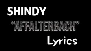 Shindy-Affalterbach (Lyrics)