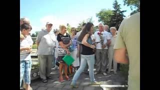 Торжественное открытие  в Феодосии  доски  П.С. Котляревскому