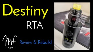 Hellvape Destiny RTA | Full Review, Rebuild & Wick | Designed by Alex VapersMD