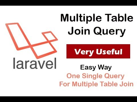 Laravel Multiple Table Join Query - very simple way
