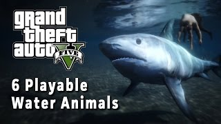6 Water Animals You Can Play - GTA V