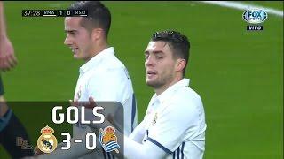 Gols - Real Madrid 3 x 0 Real Sociedad - La Liga 16-17