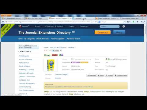 SEO оптимизация Joomla. Часть 2. Создание карты сайта