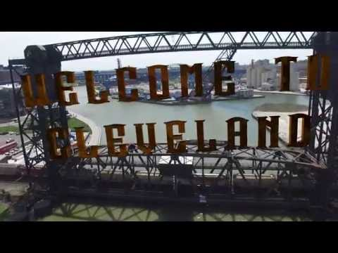 Welcome to Cleveland, Ohio • Fly-Thru of The Flats • Cuyahoga River