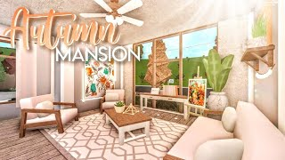 BLOXBURG| Autumnal Blush Mansion | House Build