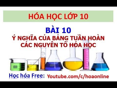 Hóa học 10 – Bài 10 – Ý nghĩa của bảng tuần hoàn các nguyên tố hóa học