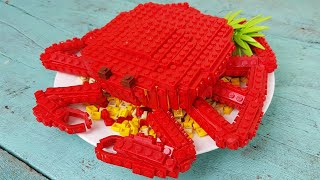 Lego King Crab - Lego In Real Life | Stop Motion Cooking & ASMR