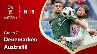 WK voetbal 2018: Samenvatting Denemarken - Australië (1-1)