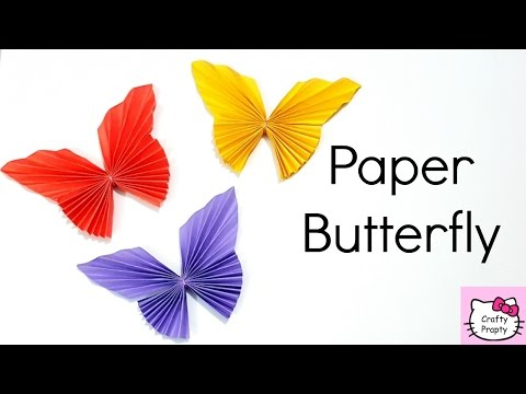 How to make Paper Butterfly/Easy Origami Butterfly/DIY Room Decor