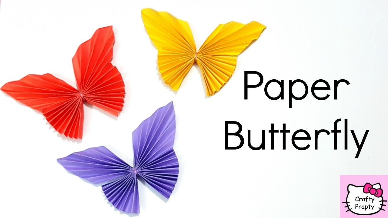How to make paper butterfly easy origami butterfly diy for How to decorate a paper butterfly