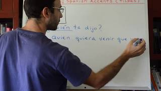 Learn Spanish 298: 3rd Rule of Spanish accents
