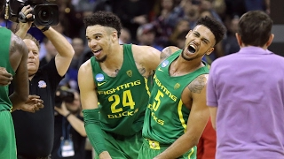 Highlights: Oregon advances to 1st Final Four since 1939 with win over Kansas