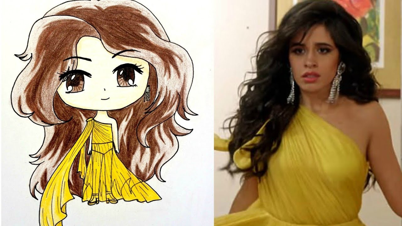 The Best Camila Cabello Face Drawing Background