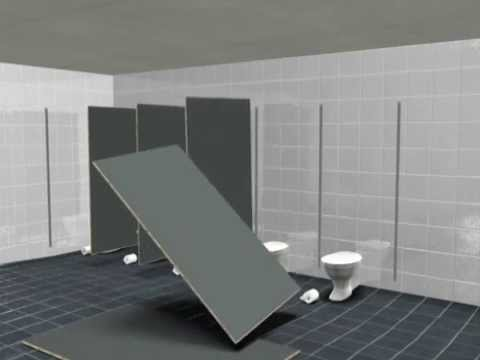 Toilet Partitions YouTube Interesting Hadrian Bathroom Partitions Remodelling