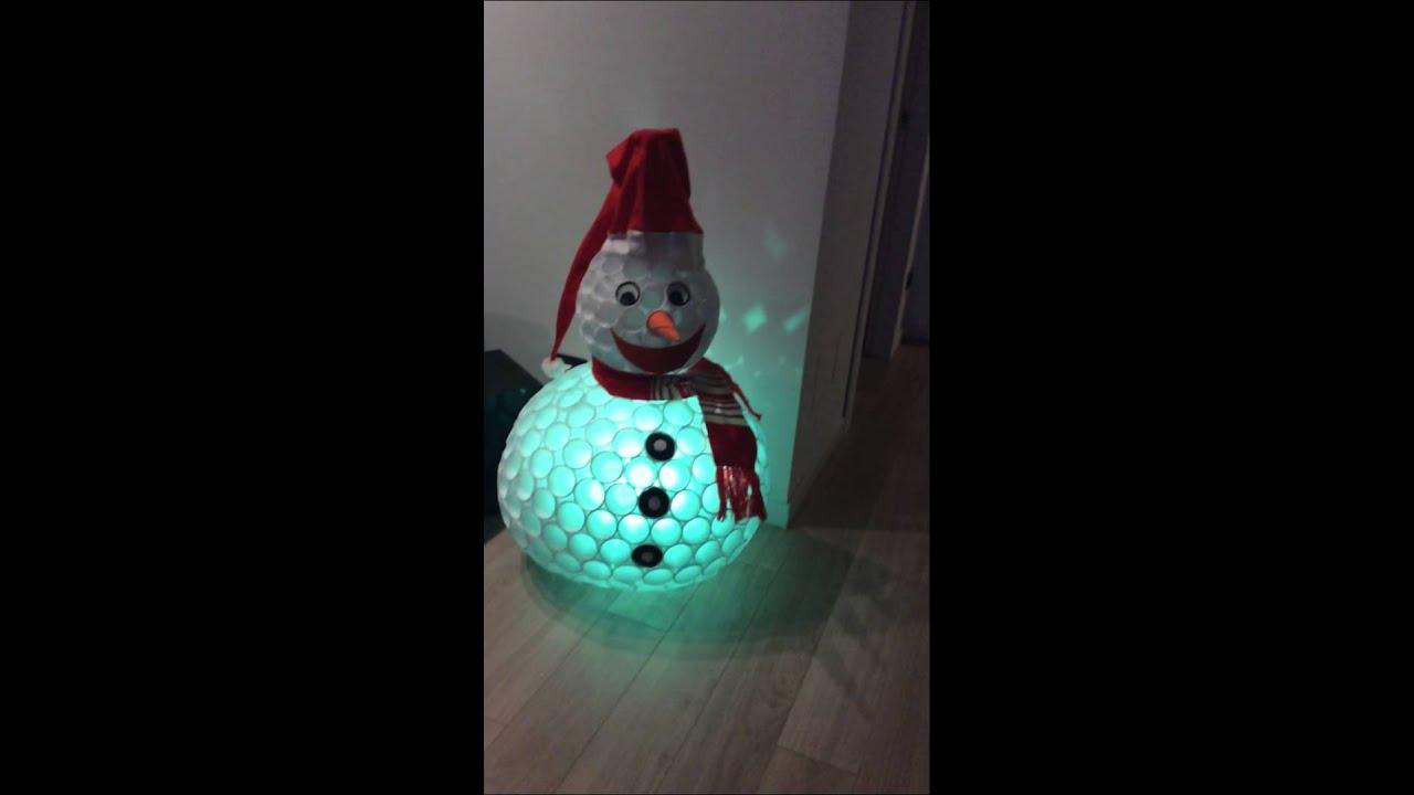 spesso Pupazzo di neve fatto con bicchieri di plastica (BELLISSIMO) - YouTube IF65