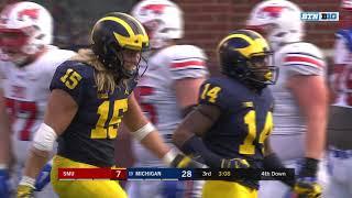 2018-09-15 NCAAF - Michigan Defense vs SMU - Every Snap