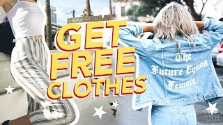 HOW TO GET FREE CLOTHES (not clickbait)