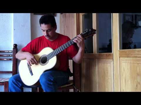 Salvador Castillo tocando una Purepecha