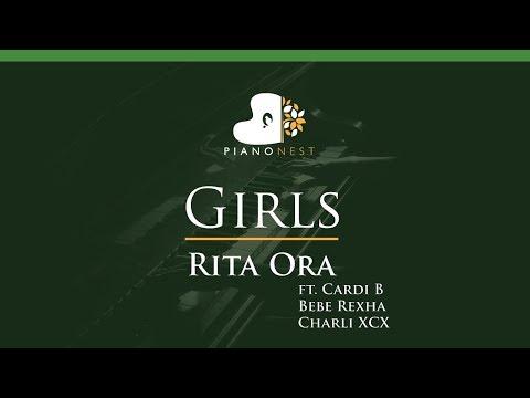 Rita Ora - Girls Ft. Cardi B Bebe Rexha  Charli XCX - LOWER Key (Piano Karaoke / Sing Along)