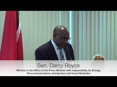 Caribbean Fintech 2017 - Feature address by Senator The Honourable  Darcy Boyce