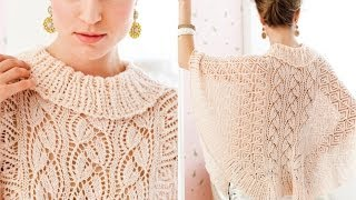 #5 Lace Poncho, Vogue Knitting Early Fall 2012