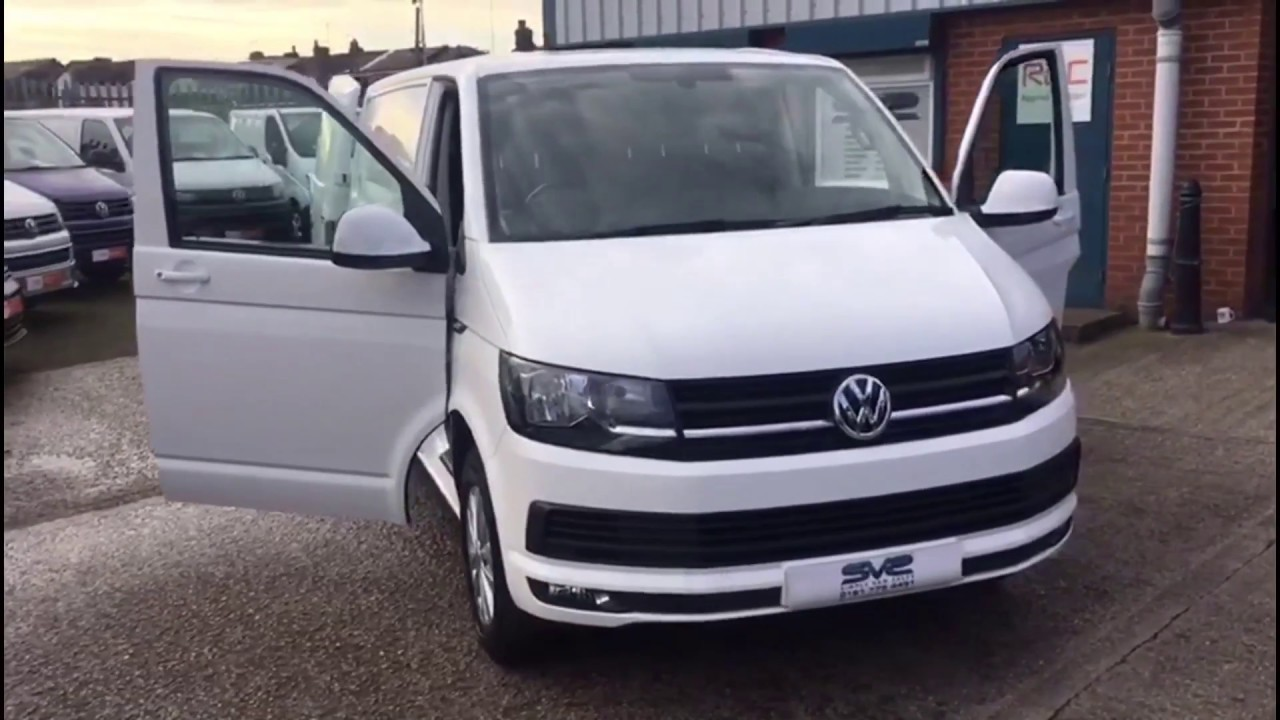 VW T6 Transporter LWB in white for sale @ Simply Van Sales - YouTube