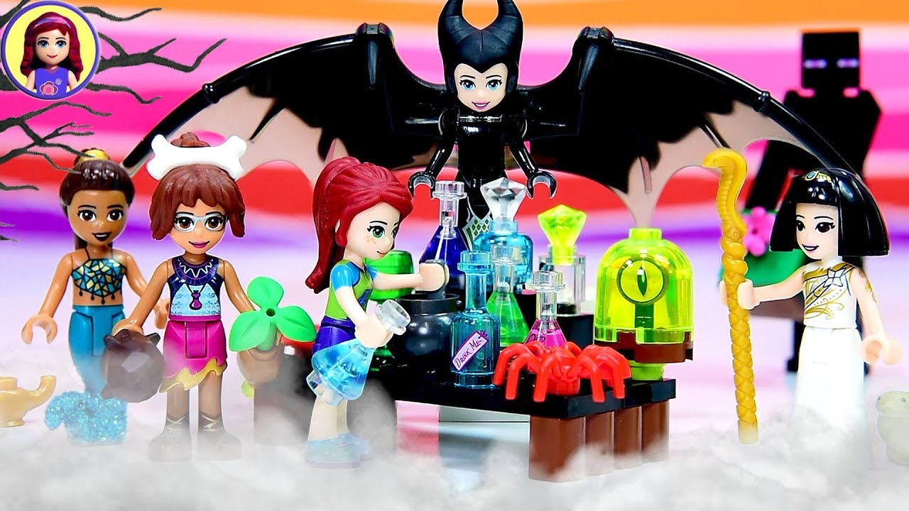 Lego Friends Halloween Dress Up Potion Mixing Madness Youtube