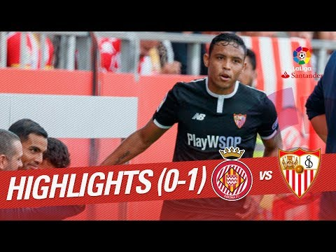 Resumen de Girona FC vs Sevilla FC (0-1)