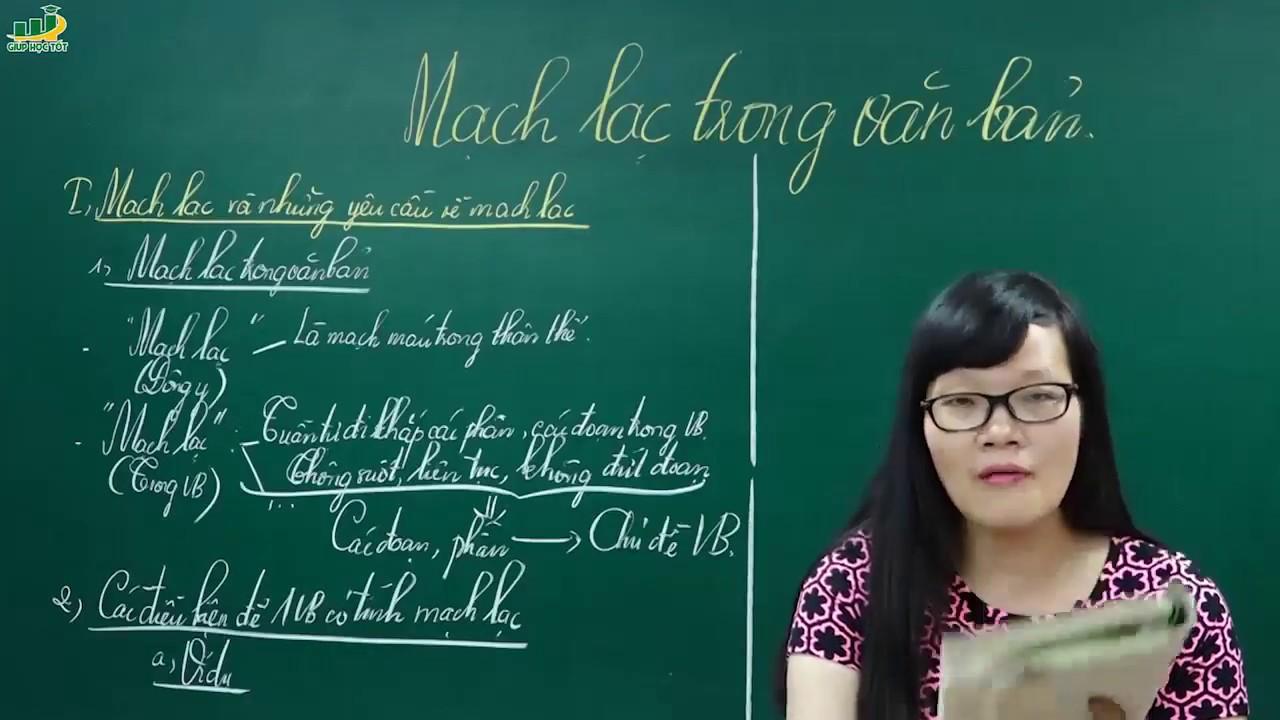 Ngữ Văn Lớp 7 – Bài giảng Mạch lạc trong văn bản lớp 7 Rèn kĩ năng làm văn  Cô Lê Hạnh