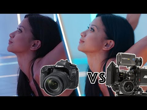 Canon 80D DSLR vs Hollywood Movie Camera Arri Alexa
