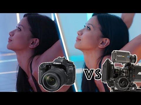 Canon 80D DSLR vs Hollywood Movie Camera Arri Alexa