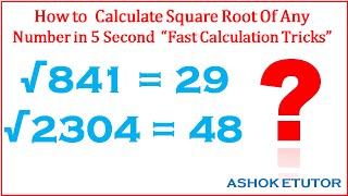 how to find square root of any number fast math tricks