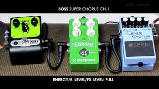BOSS Super Chorus CH-1 x TC ELETRONIC Corona Chorus x NIG/GNI Detune Chorus - Rafael Fuquisato