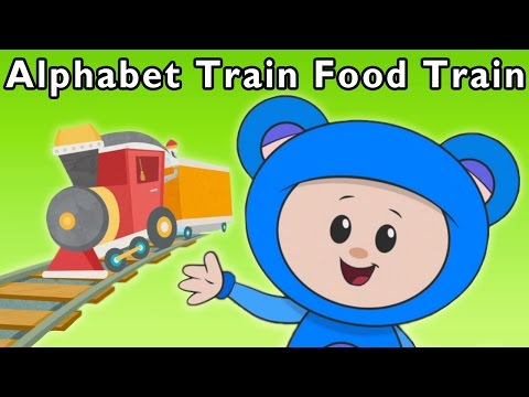 Ride the ABC Train | Alphabet Train Food Train and More | Ba
