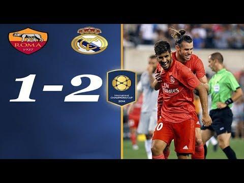 ملخص واهداف مباراة ريال مدريد وروما 2-1 شاشة كاملة ᴴᴰ الكأس الدولية للابطال
