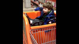 Ben In Homedepot, Helping To Pick Out Closet Building Materials