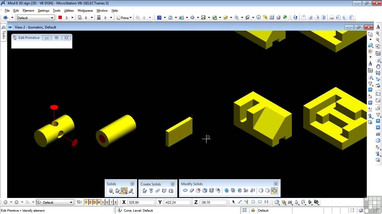 bentley microstation v8i 3d tutorial chamfer edges and. Black Bedroom Furniture Sets. Home Design Ideas