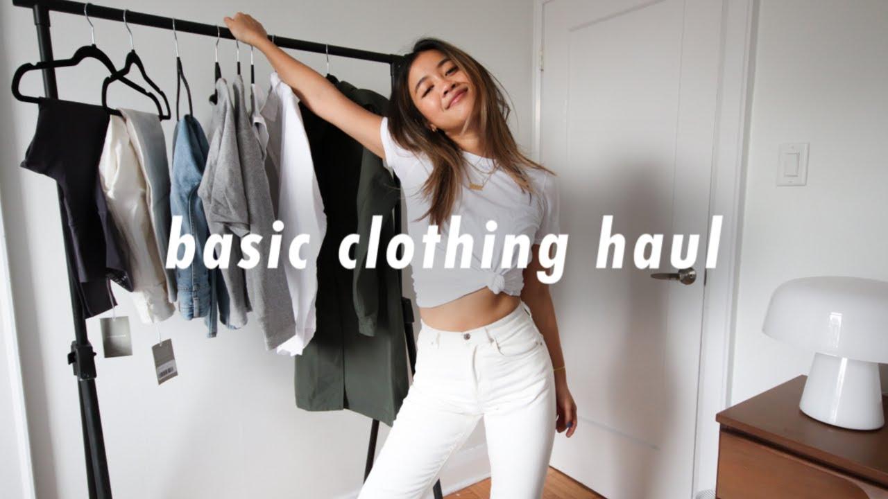 casual + easy clothing basics haul! | everlane