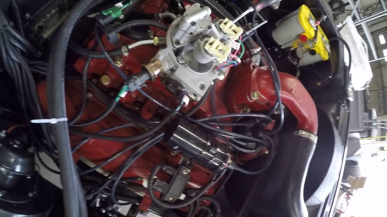 International scout startup  Engine break in after restoration
