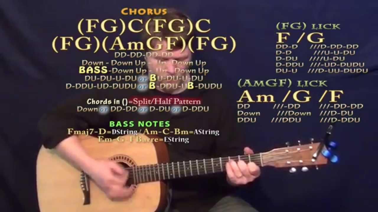 Like A Wrecking Ball Eric Church Guitar Lesson Chord Chart No