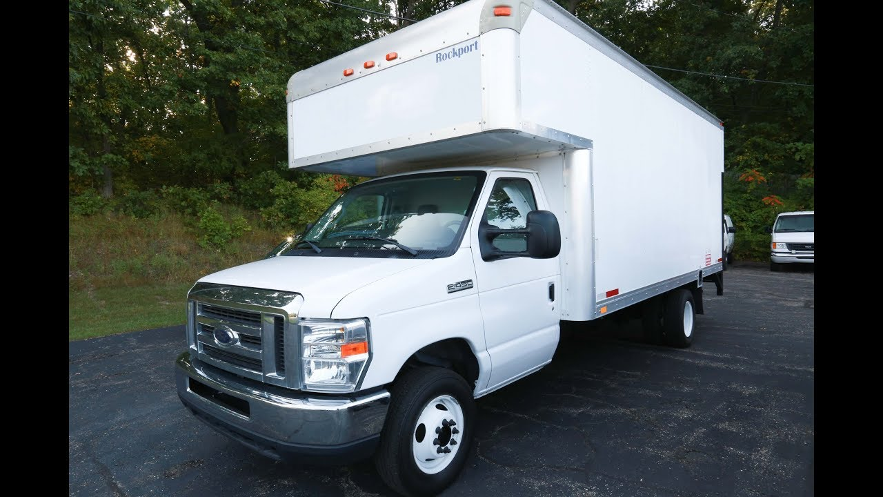 2012 Ford E450 16 Foot Box Truck With Lift Gate Youtube