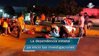 Tras el accidente, los repartidores se movilizaron al cuartel de la Policía Estatal para exigir sanción a los responsables, pero en cambio denuncian que fueron amedrentados