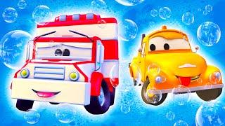 Amber der Krankenwagen - Toms Autowaschanlage in Autopolis   Lastwagen Zeichentrickfilme für Kinder