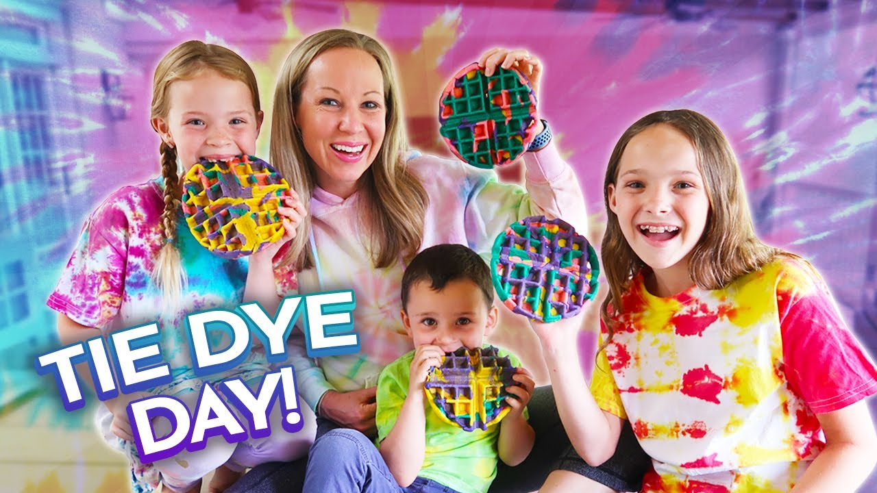 Download We're Making Tie Dye Waffles!